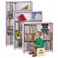 Jonti-Craft Rainbow Accents Bookcases - Three Sizes in Multiple Edge Colors