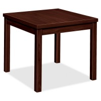 HON Corner Table, Laminate, Mahogany