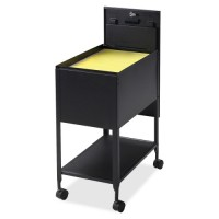 "Lorell Mobile Standard File, with Lock, 13½"" x 24¾"" x 28¼"", Black"