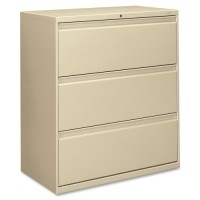 "HON Brigade 800 Series Lateral Files, with Lock, 36"", Putty - 2 Heights Available"