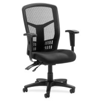 Lorell Ergomesh Executive Highback Chair, Mesh, Black