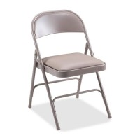 """Lorell Folding Chairs, 19⅜"""" x 18¼"""" x 29⅝"""", 4/Cartson, Beige - Multiple options"""