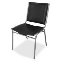 Lorell Armless Stacking Chairs - Black - Purchase in quantities of 4