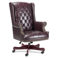 Lorell Berkeley Executive Swivel Chair, Burgundy - Multiple options