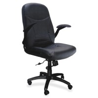 "Mayline Big/Tall Swivel Chair, Tilt, 29"" x 28"" x 4549"", Black Leather"