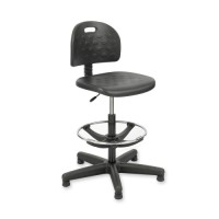 """Safco Workbench Chair, 5 Casters, 25"""" x 25"""" x 39"""" to 49"""", Black"""