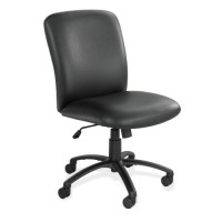 "Safco Executive Highback Chair, 27"" x 30¼"" x 40¾"" to 44¾"", Black Vinyl"