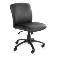 "Safco MidBack Chair, 27"" x 30¼"" x 36½"" to 40½"", Black Vinyl"