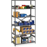Commercial Shelving, 6 Shelves, Medium Gray - Multiple options