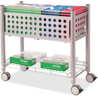 "Vertiflex Rolling File Cart, with OpenTop, 28¼"" x 13¾"" x 27"", Matte Gray"