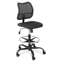 "Safco Extended Height Chair, Mesh Back, 25"" x 25"" x 39½ to 49½"", Black"