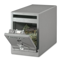 "Sentry Safe, Drop Slot, Dual Key Lock, 6"" x 12³⁄₁₀"" x 8½"", Gray"