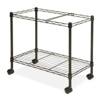 "Lorell Mobile Filing Cart, Letter/Legal, 12⅞"" x 25¾"" x 20½"", Black"
