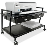 Vertiflex Underdesk Machine Stand, with Drawer, Black