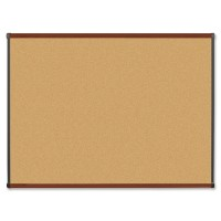 Lorell Natural Cork Boards, Mahogany Finish - Multiple options