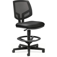 Black Leather - HON Volt Mesh Back Task Stool