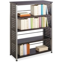 Safco Scoot Multi Shelf Bookcase, Black - Multiple options