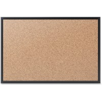 Quartet Cork Bulletin Boards, Aluminum Frame/Black - Multiple options