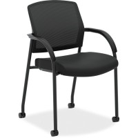 HON Lota Mesh Back Stacking Chair With Fixed Arms