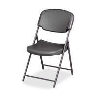 Iceberg Folding Chair, Steel Frame, Charcoal