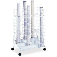 Safco Wire Roll Files, White  - Multiple options