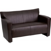 Signature Majesty Series Leather Love Seat - 2 Color Options