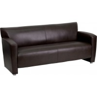 Signature Majesty Series Leather Sofa - 2 Color Options