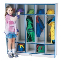 Jonti-Craft Rainbow Accents 5 Section Coat Locker - Multiple Edge Colors
