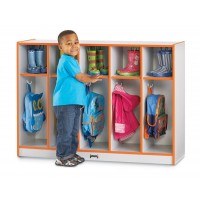 Jonti-Craft Rainbow Accents Toddler 5 Section Coat Locker - Multiple Edge Colors