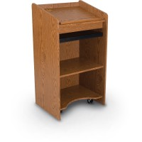 Balt Floor Lectern - Oak or Mahogany