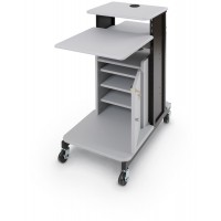 Locking Cabinet for Xtra Long Presentation Cart - Gray - 34466