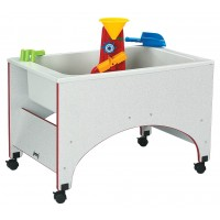 Jonti-Craft Rainbow Accents Space Saver Sensory Table - Multiple Edge Colors