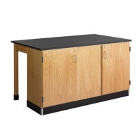 "Forward Vision III 2 Student Workstation with Door Cabinet, 68""W - 2 Top Types"