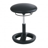 Black Vinyl Twixt® Active Seating Chair - Desk-Height - Safco Products 3000BV