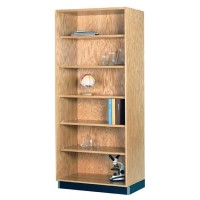 UV Finish Oak Wood Storage Bookcase - 3 Widths