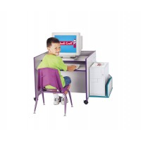 Jonti-Craft Rainbow Accents CPU Booth - Multiple Edge Colors