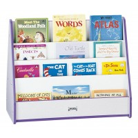 Jonti-Craft Rainbow Accents Double Sided Pick-a-Book Stand - Mobile or Stationary in Multiple Colors