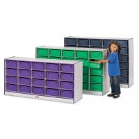 Jonti-Craft Rainbow Accents 20 Tub Mobile Storage - with or without Tubs in Multiple Colors