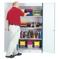 Jonti-Craft Rainbow Accents Classroom Closet Deluxe - Multiple Edge Colors