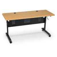 60 x 24 Rectangle  Balt Flipper Table- 89775M - Teak Top