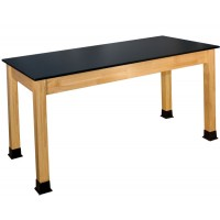 "BS-PH Series 30""x60"" Chemical Resistant Solid Phenolic Top Science Table"