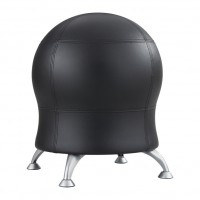 Zenergy™ Ball Chair, Black Vinyl-BV