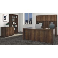 Chateau Office Suite Ensemble in Walnut - Choose Components