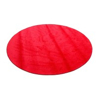 Small round red rug