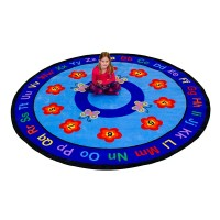 Large round butterfly rug