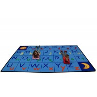 Uppercase and Lowercase ABCs rug