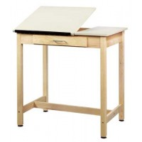 Art/Drafting Table, Two Piece Top - 2 Heights