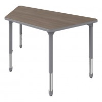 Artcobell Trapezoid Discover Shape Table with 5th Ave Elm Laminate