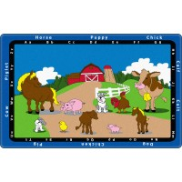 Animal Match Educational Rug