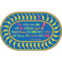 Be Yourself Quotation Educational Rug